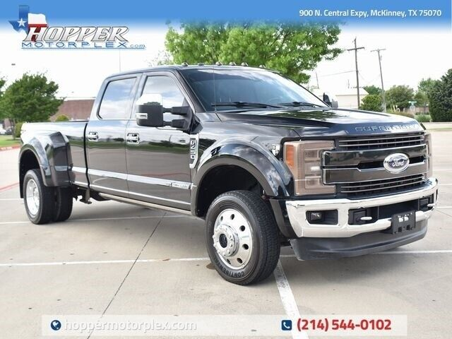 2017 Ford F-450SD King Ranch DRW 51362 Miles Shadow Black Pickup Truck 8 Automat