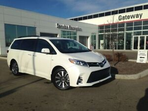 2018 Toyota Sienna Limited AWD 7 Pass, Dual Moonroof, Brown Leat