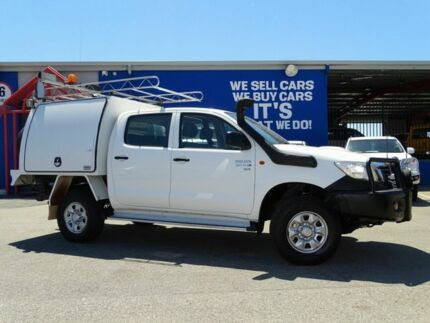 2012 Toyota Hilux KUN26R MY12 SR Double Cab White 5 Speed Manual Cab Chassis Welshpool Canning Area Preview