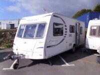 Bailey Pageant Provence 5 Berth Separate shower double Dinette. Touring Caravan.