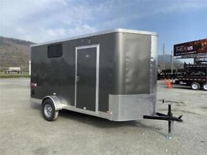 NEW 6x12 TRAX VNOSE ENCLOSED CARGO TRAILER WINDOW AND RAMP
