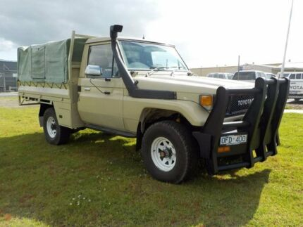 1989 Toyota Landcruiser Brown Manual Cab Chassis