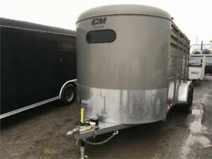 All Steel 3 Horse Slant Load Bumper Pull Trailers