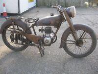 VINTAGE 1950s MOTOBECANE 125cc D46 FOUR STROKE MOTORCYCLE
