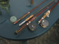 VINTAGE FLY FISHING RODS AND REELS