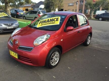 2008 Nissan Micra K12 Red 4 Speed Automatic Hatchback Lidcombe Auburn Area Preview