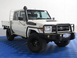2013 Toyota Landcruiser VDJ79R MY12 Update Workmate (4x4) White 5 Speed Manual Dual Cab Chassis Jandakot Cockburn Area Preview