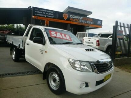 2013 Toyota Hilux KUN16R MY12 SR 4x2 White 5 Speed Manual Cab Chassis Merrylands Parramatta Area Preview
