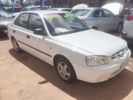 2002 Hyundai Accent White 4 Speed Automatic Hatchback North Hobart Hobart City Preview