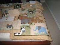 Jungle Animal Theme Crib set - incl room decoration
