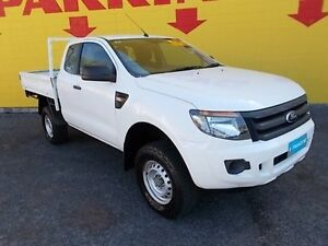 2012 Ford Ranger PX XL 4x2 Hi-Rider White 6 Speed Sports Automatic Cab Chassis Winnellie Darwin City Preview