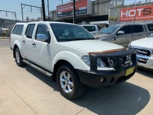 2011 Nissan Navara D40 S5 MY12 ST-X White 7 Speed Sports Automatic Utility Granville Parramatta Area Preview