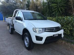 2012 Mitsubishi Triton MN MY12 GLX White 4 Speed Automatic Cab Chassis Bowen Hills Brisbane North East Preview