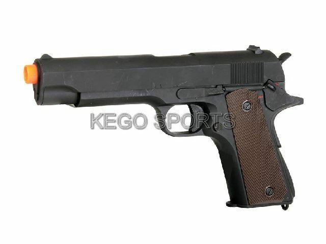 CM123 1911 Airsoft Electric Pistol AEP Gun Full Auto 250 FPS Handgun Spring BBs