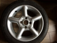"Ford Escort Gti Cosworth style 15"" wheel with brand new tyre"