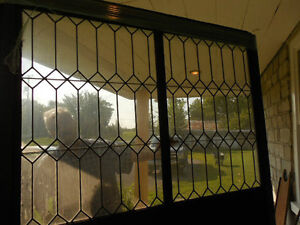 Antique Storm Porch with Leaded Glass, Rare