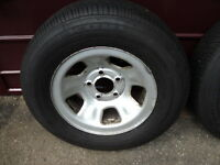 Two Tires and Rims for a GMC Safari Van or Truck (1996 -2005)