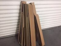 5 pallets used once + lot of cardboard edge protectors