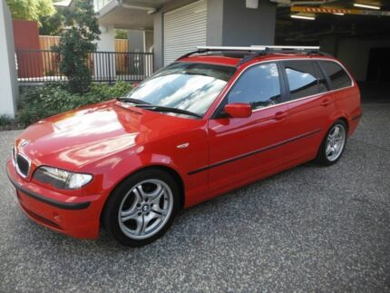 2003 BMW 320i E46 TOURING  320I TOURING  Red 5 Speed Automatic Wagon Kedron Brisbane North East Preview
