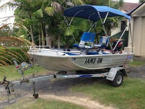 """Seajay 3.7m  """"Bass & Barra"""" ex cond. Tinnie Boat 18hp The Entrance Wyong Area Preview"""