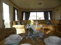 Static caravan fixed bed 3 bedroom 8 berth sited caravan on Withernsea Sands East Coast of Yorkshire