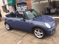 Mini Cooper Convertible 2005, Manual, Blue, 86668 miles, 3 months warranty