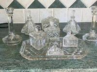 Old Fashion Dressing Table glassware set