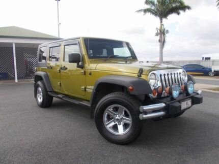 2007 Jeep Wrangler JK Unlimited Sport Rescue Green 6 Speed Manual Softtop