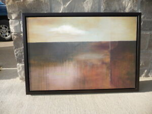 Abstract- Wood framed print