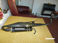 NARAKU PERFORMANCE GY6 4-0R 2 STROKE EXHAUST