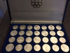 1976 Olympic coins 28 set