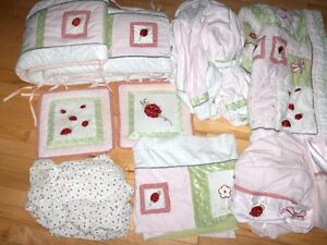 Crib Quilt Set with Bumper Pad, Sheets, Pillows and More