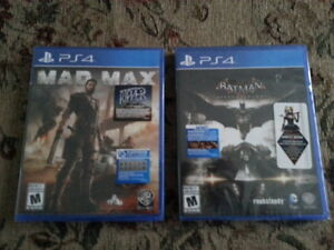 BRAND NEW SEAL PLAYSTATION PS4 GAMES