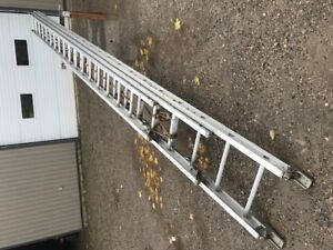 60' heavy duty Louisville aluminum extension ladder