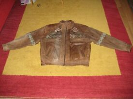 Excellent Stylish Vintage/Retro Circa 1970/80s Leather Jacket By Casual Club. OFFERS WELCOME.
