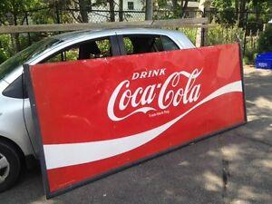 Vintage Metal signs. Coke and Pepsi