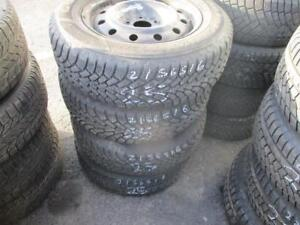 215/65 R16 WINTER TIRES AND RIMS PACKAGE (MULTIFIT RIMS) (SET OF 4) - USED GOODYEAR NORDIC WINTER TIRES APPROX. 85% TREA