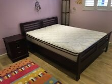 Queen bed with mattress and two matching bedside tables Matraville Eastern Suburbs Preview