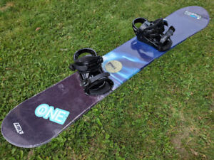 `Smx storm snowboard 152cm with bindings