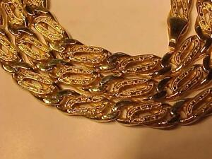 """#3176-STUNNING 14K Y/Gold REVERSEABLE  CHAIN 20 3/4""""LONG -OVER 40 GRAMS *A REAL KEEPER* LAYAWAY OR EBANK TRANSFER"""