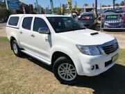 2015 Toyota Hilux KUN26R MY14 SR5 (4x4) White 5 Speed Automatic Dual Cab Pick-up Dapto Wollongong Area Preview