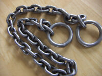 MOTORCYCLE HEAVY DUTY CHAIN WITH LOOPS MOTORBIKE SCOOTER SECURITY