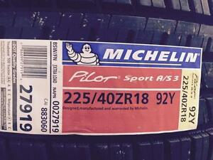 4 Brand New Michelin Pilot Sport A/S 3 225/40R18 all season tires *** WallToWallTires.com ***