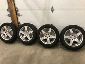 Winter Tires Nokian 235-55-18 with mags for Mercedes GLK