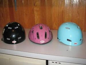 3 Bicycle helmets for children or youth
