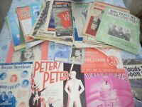 Sheet music and music booklets, most from 1920's to 40's, approximately 70 in number