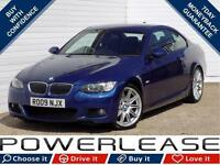 2009 09 BMW 3 SERIES 3.0 325D M SPORT 2D AUTO 195 BHP DIESEL