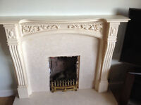 Fireplace surround , Backplate and base