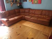 Ikea leather corner sofa, needs collecting as soon as possible.