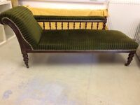 Chaise Longue - antique in overall good structural condition